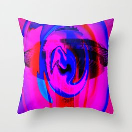 Purple Needle Throw Pillow