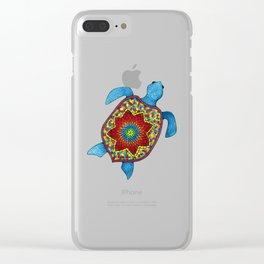 Turtley Awesome Mosaic Turtle Clear iPhone Case