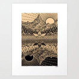 PARALLEL UNIVERSE - BROWN - Visothkakvei Art Print