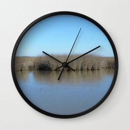 Watercolor Landscape, Janes Island 05, Maryland Wall Clock