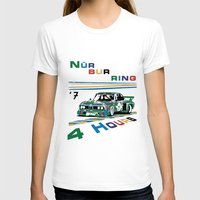 1975 T-shirts featuring 1975 BMW Victory at 4 Hours of Nürburgring by DailyTurismo