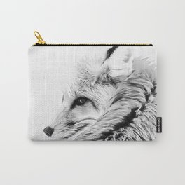 red fox digital acryl painting acrbw Carry-All Pouch