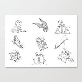 Wizarding World Flash Sheet Canvas Print