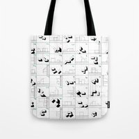 matrix Tote Bags featuring matrix by sharon