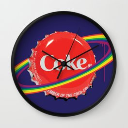 Planet Coke Wall Clock