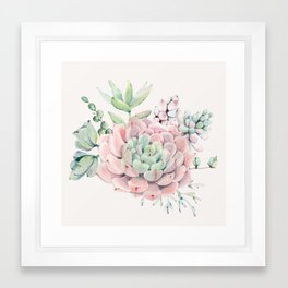 Perfect Pink Succulent Framed Art Print
