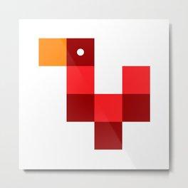 Pixel by pixel – Rooster Metal Print