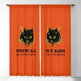 FEED ME SUSHI AND TELL ME I'M PRETTY Blackout Curtain