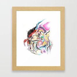 bitches be trippin Framed Art Print