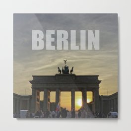 BERLIN, Sunset at the Brandenburg Gate Metal Print