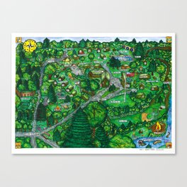 Camp Downer Map Canvas Print