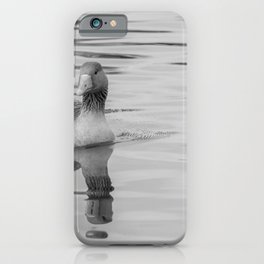 Greylag goose on the Bure River, Horning iPhone Case