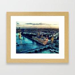 London watercolor Framed Art Print