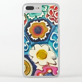 Murano Flowers Clear iPhone Case