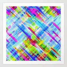 Colorful digital art splashing G468 Art Print