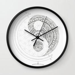 Yin Yang Mandala Globe Wall Clock