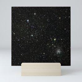 Universe Space Stars Planets Galaxy Black and White Mini Art Print