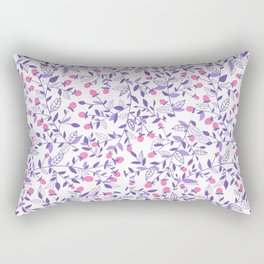 Floral doodles pink and violet Rectangular Pillow