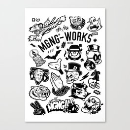 MGNG WORKS. TATTOO Canvas Print