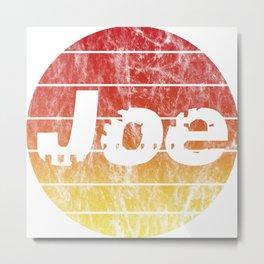 Name Joe in the sunset vintage sun Metal Print