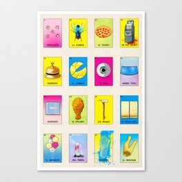 BB Loteria Cards Canvas Print