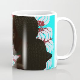 Black woman with braids floral Coffee Mug