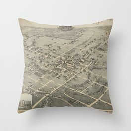 Denton Texas 1883 Throw Pillow