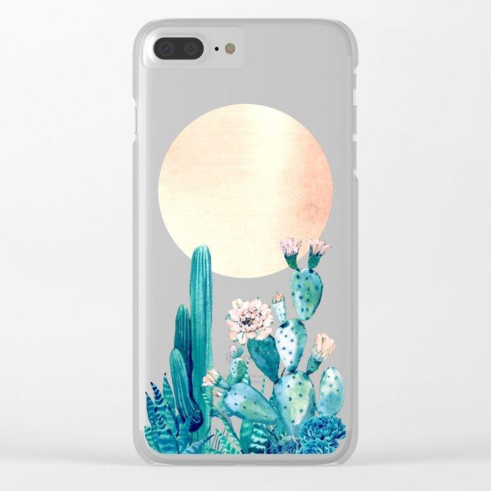 Desert Dawn Clear iPhone Case