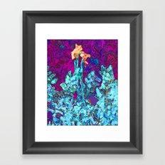 Flower Peach Framed Art Print