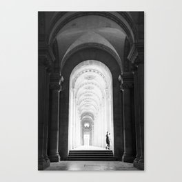 At the Louvre Canvas Print