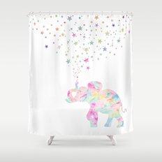 MAKE ME HAPPY ELEPHANT  Shower Curtain