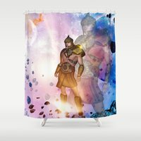 hercules Shower Curtains featuring Hercules by nicky2342