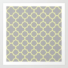 MOROCCAN {YELLOW/GRAY}  Art Print