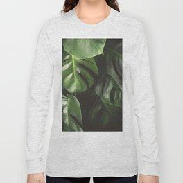 Monstera Leaves Long Sleeve T-shirt