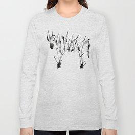 zebra ink splatter Long Sleeve T-shirt