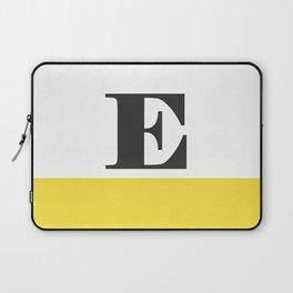 Monogram Letter E-Pantone-Buttercup Laptop Sleeve