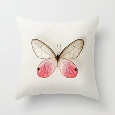 Pink Glasswing  Throw Pillow