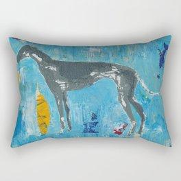 Greyhound Dog Abstract Painting Rectangular Pillow