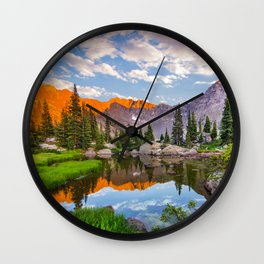 Mystic Island Lake Wall Clock