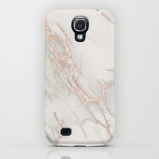 Marble Rose Gold Blush Pink Metallic by Nature Magick Slim Case Galaxy S4