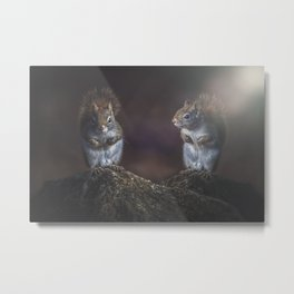 Forest Twins Metal Print