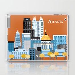 Atlanta, Georgia - Skyline Illustration by Loose Petals Laptop & iPad Skin