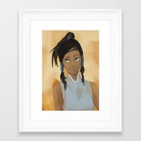 korra Framed Art Prints featuring korra by anir