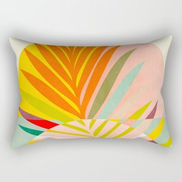 minimal leave tropical spring Rectangular Pillow