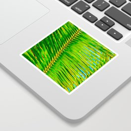 Coconut Frond in Green Aloha Sticker