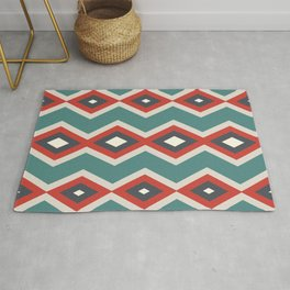 Geometric triangles shapes pastel retro cool colors Rug