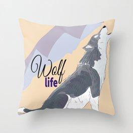 Wolf Life feat Gi Art Throw Pillow