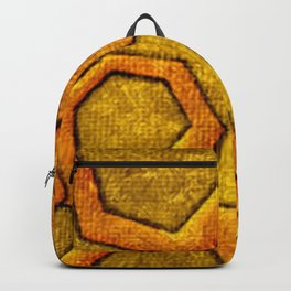 Cool Pentagon shape vibrant texture Backpack