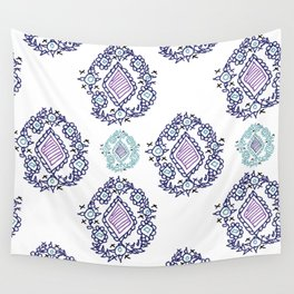 doodle ikat Wall Tapestry