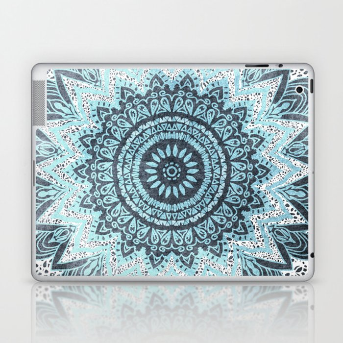 BOHOCHIC MANDALA IN BLUE Laptop & iPad Skin